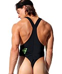 Rufskin Core Neon Sport Thong Bodysuit Black, view 4
