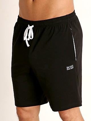 Model in black Hugo Boss Mix & Match Shorts