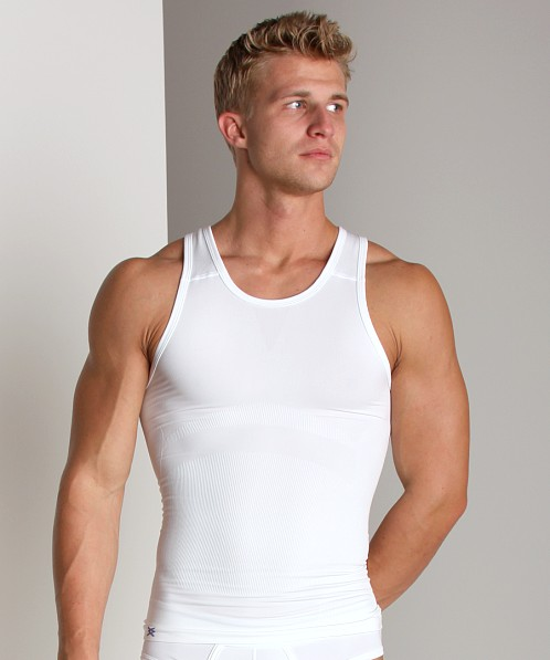 Equmen Core Precision Singlet Tank Top White