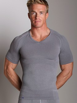 Equmen Core Precision V-Neck T-Shirt Grey