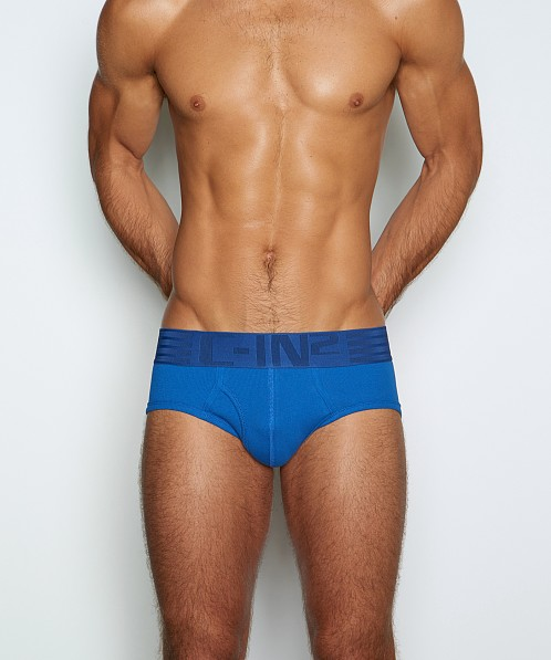 C-IN2 Hard//Core Fly Front Brief Peter Blue