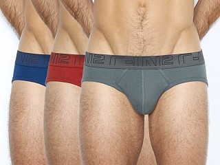 C-IN2 Lo No Show Profile Brief 3-Pack Skyscraper/Crimson/Admiral