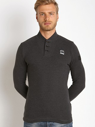 G-Star Gilik Kylio Waffle Long Sleeve Henley Black Heather