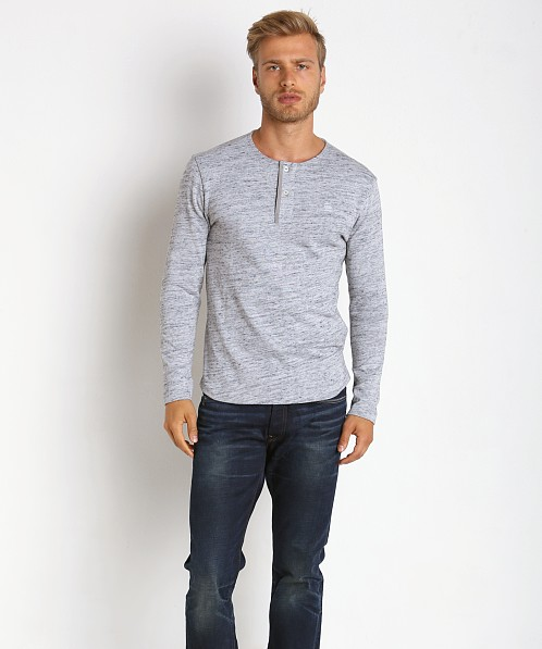 G-Star Xauri Granddad Rock Jersey Henley Grey Heather