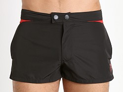 Diesel Iconic V Design Sandy Swim Shorts Black/Red
