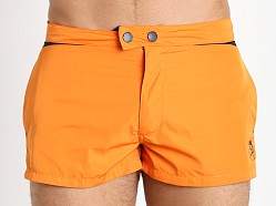 Diesel Iconic V Design Sandy Swim Shorts Orange/Black