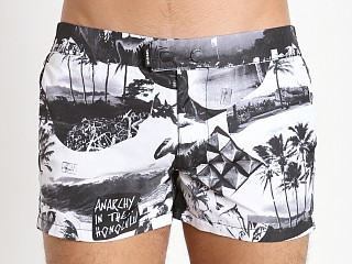 Diesel Photoprint Chi-Sandy Swim Shorts White