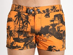 Diesel Photoprint Chi-Sandy Swim Shirts Orange