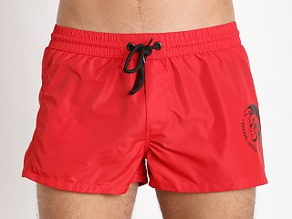 Diesel Mohican Logo Sandy Swim Shorts Red