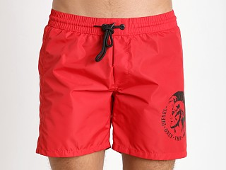 Diesel Mohican Logo Wave Swim Shorts Red