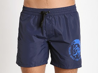 Diesel Mohican Logo Wave Swim Shorts Navy
