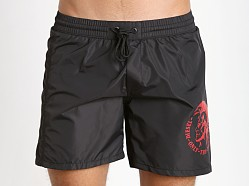 Diesel Mohican Logo Wave Swim Shorts Black