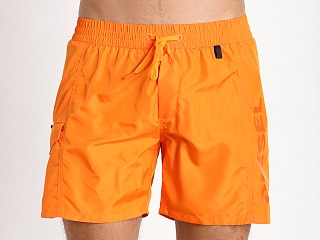 Diesel Fold & Wave Swim Shorts Orange