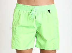 Diesel Fold & Wave Swim Shorts Neon Green