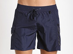 Diesel Fold & Wave Swim Shorts Navy