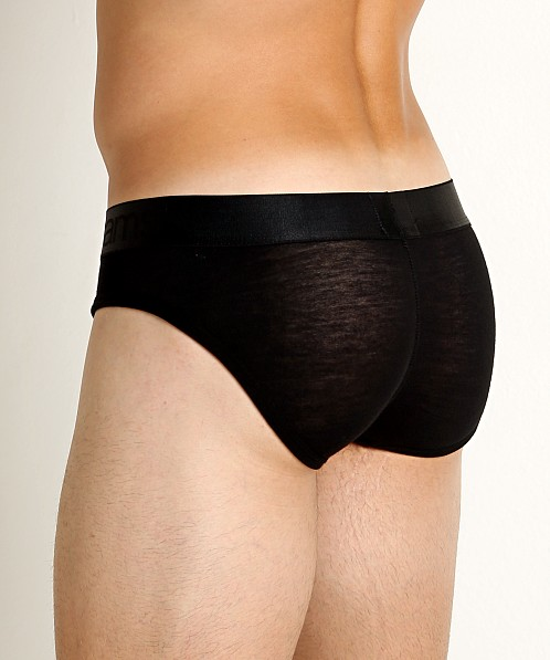 Jack Adams Naked Fit Mesh Back Brief Black