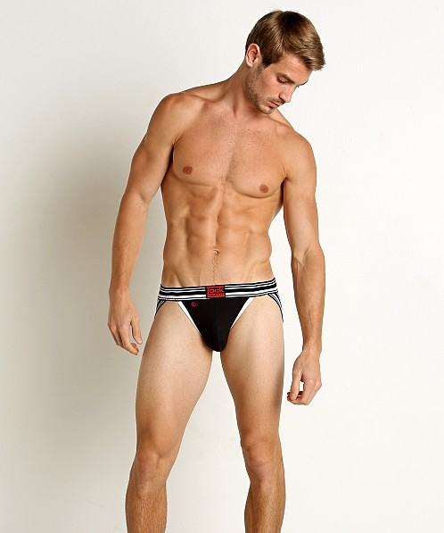 Jack Adams Sport Tek Punch Hole Jockstrap Black