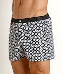 Jack Adams Hipster Swim Trunk Black/White, view 3