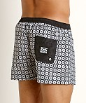 Jack Adams Hipster Swim Trunk Black/White, view 4