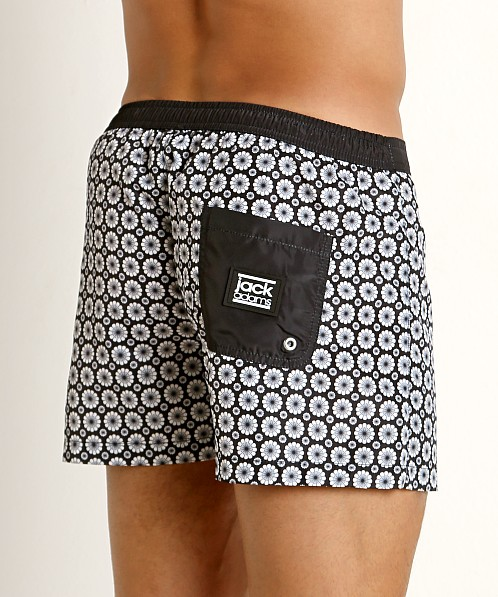 Jack Adams Hipster Swim Trunk Black/White