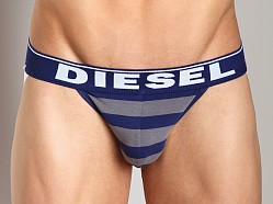 Diesel Fresh & Bright Striped Jocky Jockstrap Grey/Blue