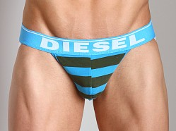 Diesel Fresh & Bright Striped Jocky Jockstrap Turquoise