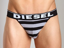 Diesel Fresh & Bright Striped Jocky Jockstrap Grey/Black