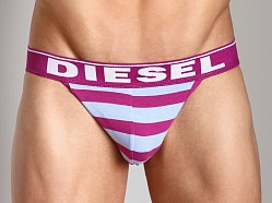 Diesel Fresh & Bright Striped Jocky Jockstrap Pink