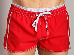 Diesel Barrely Swim Shorts Red