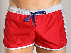 Diesel Reef Swim Shorts Red