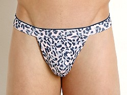 2xist Sliq Micro Y-Back Thong Cheetah Print English Rose