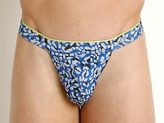 Complete the look: 2xist Sliq Micro Y-Back Thong Cheetah Print Lapis Blue
