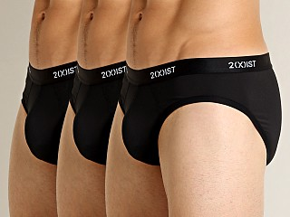 2xist Micro Speed Dri No-Show Brief 3-Pack Black