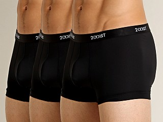 2xist Micro Speed Dri No-Show Trunk 3-Pack Black