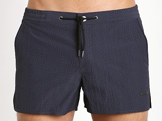 "Parke and Ronen 2"" Barcelona Check Swim Short Indigo"