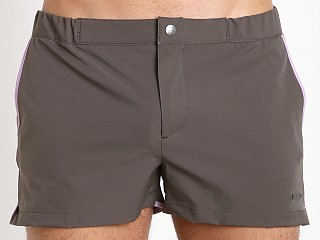 "Parke and Ronen 2"" Angeleno Solid Stretch Swim Short Charcoal"