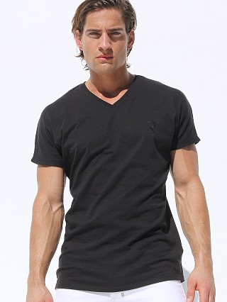 Rufskin Burt Short Sleeve V-Neck Embroidered Tee