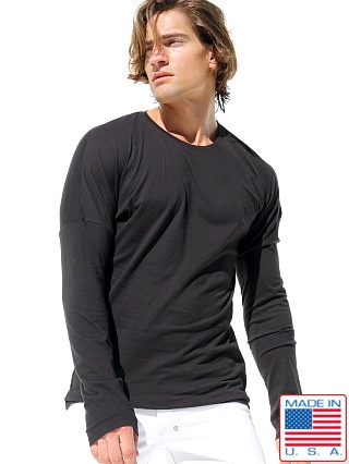 Rufskin Brad Long Sleeve Crew Neck Embroidered Tee