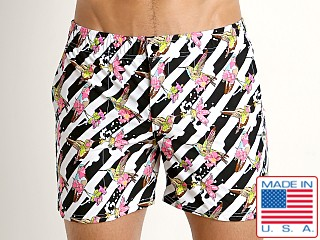 LASC Laguna Swim Shorts Pink Hummingbirds