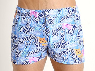 Complete the look: LASC Malibu Swim Shorts Blue Flamingo