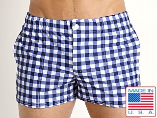 LASC Malibu Swim Shorts Blue Picnic