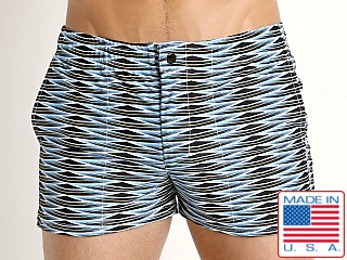 LASC Malibu Swim Shorts Blue Weave