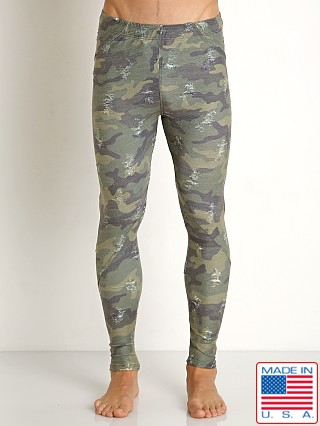 LASC Ripped Active Tight Distressed Camouflage