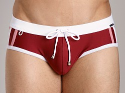 Tulio Panel Strip Bikini Burgundy