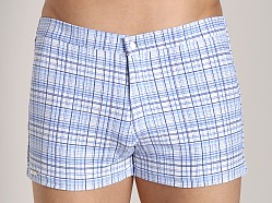Tulio Ultralite Plaid Vintage Short Blue