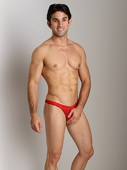 Tulio Lounge Shotgun Mesh Thong Red