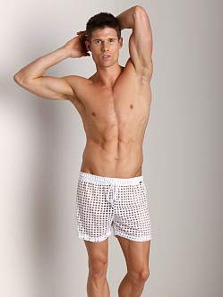 Tulio Lounge Shotgun Mesh Short White