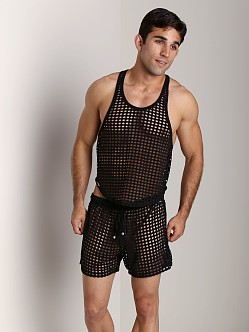 Tulio Lounge Shotgun Mesh Tank Top Black