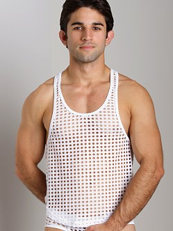 Tulio Lounge Shotgun Mesh Tank Top White
