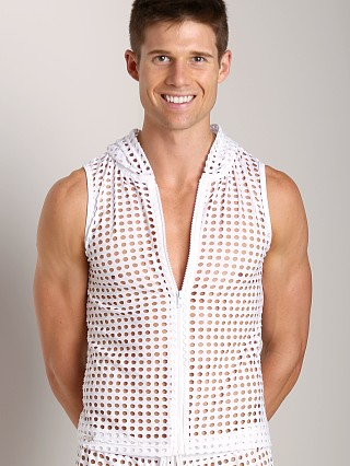 Complete the look: Tulio Lounge Shotgun Mesh Muscle Hoodie  White